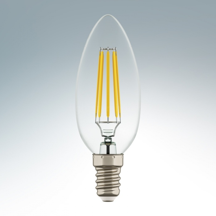 Лампа LED Свеча E14 4W 220V 2800K CLEAR Lightstar 940562